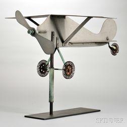 Sheet Metal Airplane Weathervane