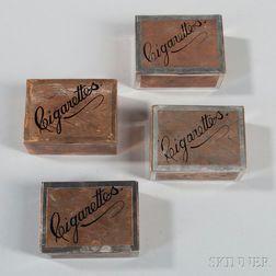 Four Tiffany & Co. Silver-plate Cigarette Boxes