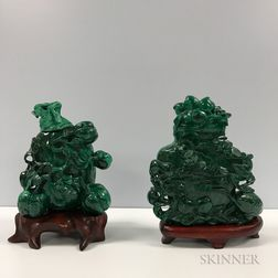 Two Malachite Carvings