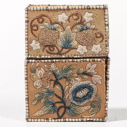 Northeast Moose Hair-embroidered Birch Bark Card Case