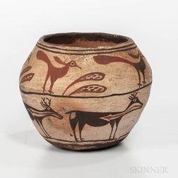 Southwest Polychrome Pottery Jar
