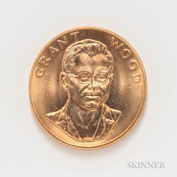 1980 Grant Wood American Arts Commemorative Series One Ounce Gold Coin.     Estimate $1,000-1,200