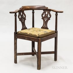 Chippendale Cherry Roundabout Chair