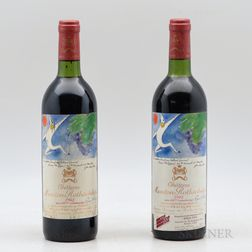 Chateau Mouton Rothschild 1982, 2 bottles