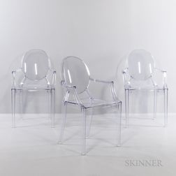 Three Philippe Starck (French, b. 1942) for Kartell Louis Ghost Chairs