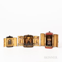 Three Portable Lacquered Shrines, Zushi