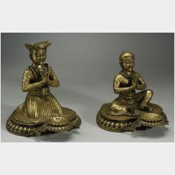 Pair of Bronze Figural Lamps