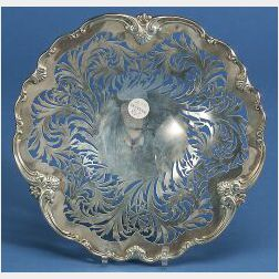 Whiting Manufacturing Co. Pierced Sterling Cake Plate