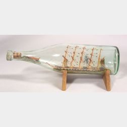 Five-masted Ship in a Bottle