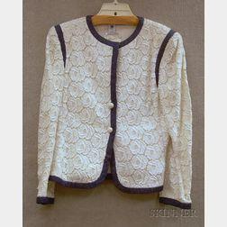 Emanuel Ungaro Parallele Paris Linen and Lace Blazer