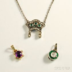 Antique Necklace and Two Pendants