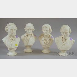 Four Parian Busts
