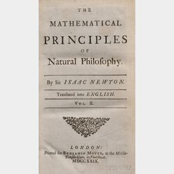 Newton, Sir Isaac (1642-1727), The Mathematical Principles of Natural Philosophy. Translated into English by Andrew Motte. To which ...