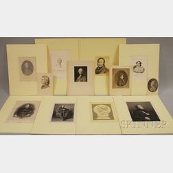 Twelve 19th Century Engraved Portraits, Mostly Composers