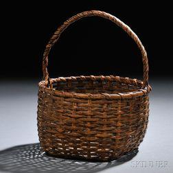 Woven Cane Basket