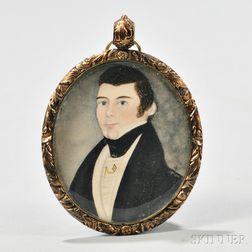 Miniature Portrait of a Gentleman on Paper