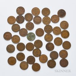 Forty Indian Head Cents
