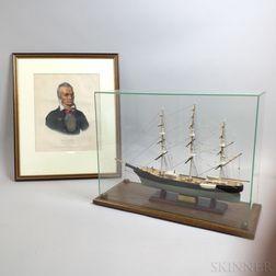 Cased Piel Craftsmen Ship's Model of the Red Jacket