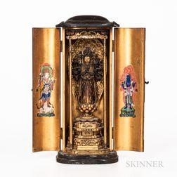 Large Portable Lacquered Shrine, Zushi