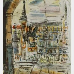 Francis Chapin (American, 1899-1965)  Plaza Mayor.