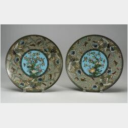 Pair of Cloisonne Plates