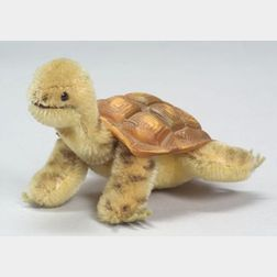 Steiff Mohair and Plastic Turtle