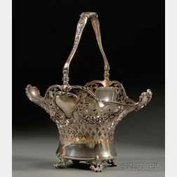 Large Gorham Reticulated Sterling Basket