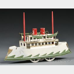 Painted Pressed Steel Ferry Toy