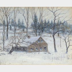 Robert Hogg Nisbet (American, 1879-1961)      The Old House