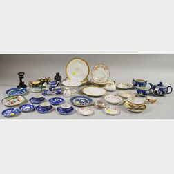 Approximately Thirty-nine Pieces of Assorted Decorated Porcelain and Ceramic   Tableware