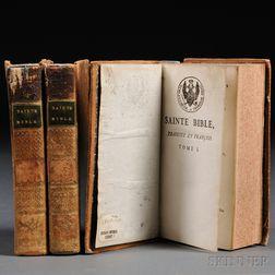 Sainte Bible, Contenant l'Ancien et le Nouveau Testament, Traduite en François.