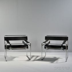 Two Marcel Breuer Wassily Chairs