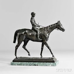 After Isidore Jules Bonheur (French, 1827-1901)       Bronze Jockey and Horse