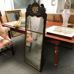 Queen Anne Parcel-gilt Walnut Looking Glass