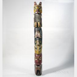 Folk Art Northwest Coast Totem Pole
