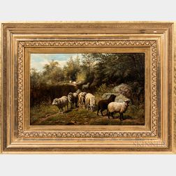 Arthur Fitzwilliam Tait (New York/England, 1819-1905)      Flock of Sheep