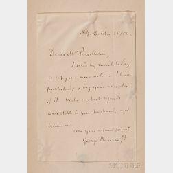 Bancroft, George (1800-1891), Presentation Copy