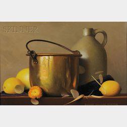 Robert Douglas Hunter (American, b. 1928)      Brass and Lemons