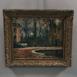 Maurice Bompard (French, 1857-1936)      Garden Pool in Autumn.