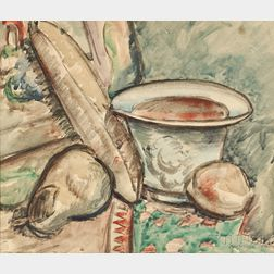 Max Weber (American, 1881-1961)      Still Life: Fruit and Bowl