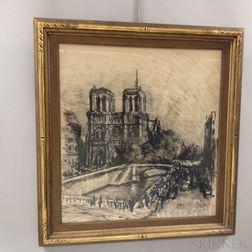 René Demeurisse (French, 1895-1961)      Notre Dame Cathedral, Paris