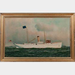 Antonio Nicolo Gasparo Jacobsen (New York/New Jersey/Denmark, 1850-1921)      The Pilot Ship New Jersey