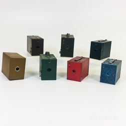 Seven Colorful Kodak Box Cameras