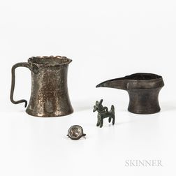 Four Early Metalware Items