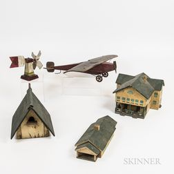 Five Painted Wooden Models