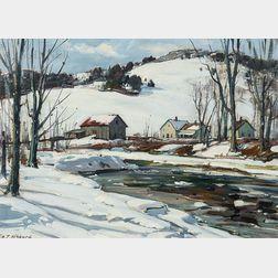 Aldro Thompson Hibbard (American, 1886-1972)      Winter Stream, Vermont