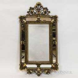 Giltwood and Molded Gesso Mirror