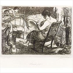 John Sloan (American, 1871-1951)  The Women's Page