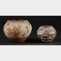 Two Southwest Polychrome Pottery Bowls