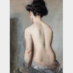 School of Edmund Charles Tarbell (American, 1862-1938)      Her Back